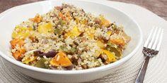 roasted vege quinoa salad