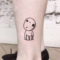 Had so much fun doing this Kodama tattoo. Tattoo artist: Numi