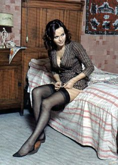 """"""" Laura Antonelli adjusts her stockings Laura Antonelli (28 November 1941 – 22 June 2015). In the 1990s Laura Antonelli disappeared from the public eye, living her final years in..."""