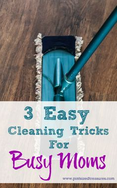 A house with kids can get messy fast. Stay in control with these three #cleaningtips! You can keep your home #clean and #happy! www.pintsizedtreasures.com