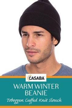 798e86bbfaf80 Casaba Warm Winter Beanie Hat Cap For Men Women Toboggan Cuffed Knit Slouch  Winter Beanies