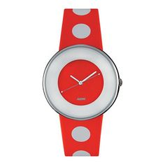 Luna Watch Red  Telling time, spot on!