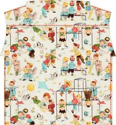 Materials:  * Fabric ( Haul it/ Critter Camp/ Fun Times  by Michael Miller )  120 cm x 60 cm (47 in x 24 in)- (size 6...