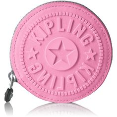 Kipling Women's Aeryn Coin Purse ($14) ❤ liked on Polyvore featuring bags, wallets, pink bag, coin purse wallets, change purse wallet, travel wallet and coin purse