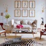 Elle Decor, kristin p living room Chic Living Room, Home Living, Living Room Decor, Small Living, Living Rooms, Modern Living, Zebra Living Room, Living Spaces, Estilo Interior