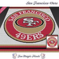 San Francisco 49ers c2c crochet graph | Craftsy