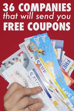 36 Companies to Call for FREE COUPONS by mail! - - We called 80 companies asking for free coupons, and this is a list of what we got in the mail!