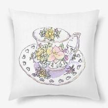 Автор PinkBus:Lelakordrawings old tea cup with flowers