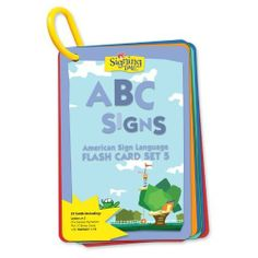 Signing Time Flash Card Set 5: ABC Signs by Signing Time. $9.89. Flash Card Set 5: ABC Signs makes it easy and fun for you and your child to learn and practice the ASL signs for letters A-Z and numbers 1-10 - and gets your child ready for reading.   Additional ideas: ? Organize the cards alphabetically, by border color, or by Signing Time friend ? Post the cards to label objects in your home ? Slip the cards into a 4x6 photo album for easy reference. Save 10%!