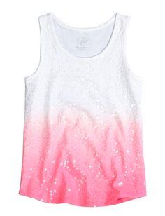 Sequin Dip Dye Tank | Dye Effects | Trend Alert | Shop Justice