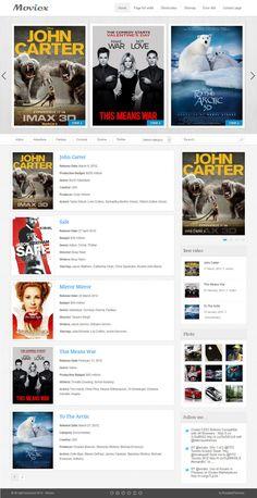 Moviex - Premium Clear Video Theme This Means War, Movie Website, Website Template, Landing, Magazine, Templates, Games, Movies, Stencils