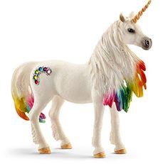 Add this Schleich Bayala Rainbow Unicorn Mare Toy Figurine to your child's toy collection. Lego Disney Princess, Beautiful Unicorn, Magical Unicorn, Unicorn Birthday Parties, Unicorn Party, Butterfly Birthday, 5th Birthday, Rainbow River, Mare Horse