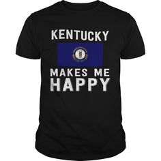 Get yours awesome Kentucky Makes Me Happy Best Gift Shirts & Hoodies.  #gift, #idea, #photo, #image, #hoodie, #shirt, #christmas