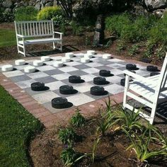 Life-sized checkers game! :^)