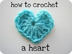 Free and Easy Crochet Heart Patterns! Mode Crochet, All Free Crochet, Learn To Crochet, Crochet Motif, Easy Crochet, Crochet Flowers, Crochet Stitches, Knit Crochet, Crochet Patterns