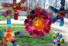 The Chocolate Muffin Tree: Recycled Bottle Flower Sun Catchers With Tissue Paper