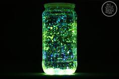 DIY Glow Jars with Just Glow Sticks