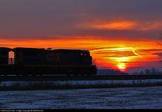 RailPictures.Net Photo: CSXT 7601 CSX Transportation (CSXT) GE C40-8 (Dash 8-40C) at Holgate, Ohio by WMHeilman