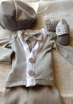Nigel - Baby Boy Clothes – Newborn Outfit - Wedding - Ring Bearer- Baby Shower Gift - Bowtie Cardigan - Ring Bearer - Christol and Company