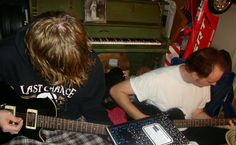 My hubby & son rockin out!