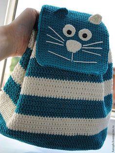 """Детский рюкзак """"Кот"""". Handmade. В полоску"""
