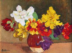 "Romanian-born painter Ștefan Luchian was born in This is ""Anemone. Art Floral, William Adolphe Bouguereau, Paul Cezanne, Artist Painting, Art World, Vincent Van Gogh, Flower Art, Art Nouveau, Modern Art"