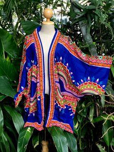 African Dashiki Ethnic Kimono Cardigan Shirt poncho Oversize   Etsy