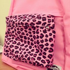Pink Leopard Print Medium Pocket