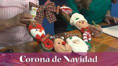 Aprenda y Venda - Corona de Navidad Primitive Doll Patterns, Diy, Dolls, Christmas Ornaments, Holiday Decor, Youtube, Home Decor, Garland, Diy Creative Ideas