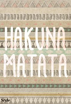 [ favourite mantra from my favourite disney movie <3 ] Weekly Affirmation: Hakuna Matata | Disney Style