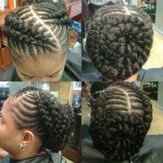 Cornrows, goddess braids
