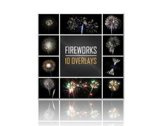 """Add festive fireworks to your New Year's photography and graphic design projects! 10 overlays - $4.95 https://www.etsy.com/listing/200514207/photography-overlays-fireworks?ref=shop_home_active_5 Once overlays are in your photo editing program, set filter to """"screen"""" and choose opacity of image to create the desired look. Create unique effects by overlapping multiple overlays at different transparencies."""