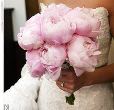 simple pink peonies bouquet