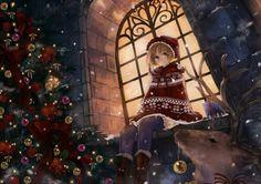 Cute Anime Girl Duo Christmas Wallpaper Celebration HD Desktop