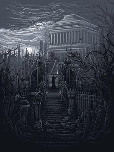 The Mausoleum at Halicarnassus [The Seven Ancient Wonders] by Dan Mumford