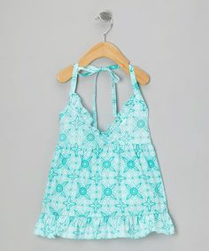Look what I found on #zulily! Turquoise Tangiers Halter Dress - Infant, Toddler & Girls #zulilyfinds