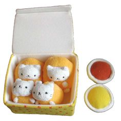 San X Nyanko Cat Nugget Plush Set - yummy yum cute :)
