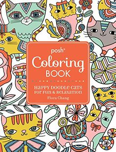 Siamese Cat Coloring Book 64 Page By Twoeardesign On Etsy See More Posh Adult Cats For Comfort Creativity