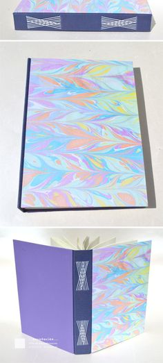 longstitch binding with marbled covers by Mary Steibel
