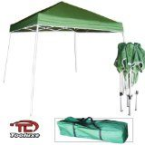 Green - Light Duty 'Instant' Foldable Portable Canopy 10' x 10' Tent.