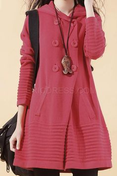 Commuter Solid Color Cotton Dress Casual Dresses