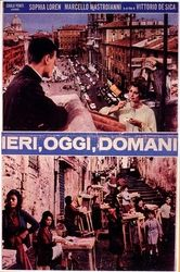 """Movie poster for """"Ieri, oggi, domani"""" (""""Yesterday, Today, Tomorrow""""), 1963."""