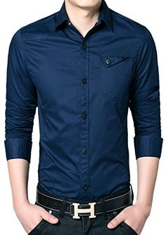 APTRO Men's Cotton Blend Business Slim Long Sleeve Dress Shirt #12 Dark Blue US XS(Tag L) APTRO http://www.amazon.com/dp/B0195WBY4E/ref=cm_sw_r_pi_dp_M9JAwb19PR2NN