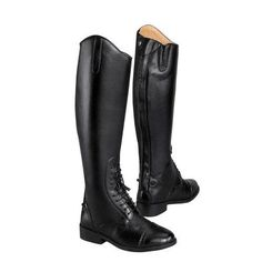 Quality with affordability! Saxon Ladies Equileather® Tall Field Boot - Regular & Wide Sizes Available! #Saxon
