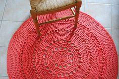 tapis en crochet Zpagetti... tuto