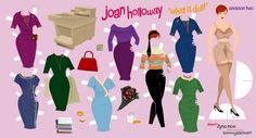 joan holloway - paper doll