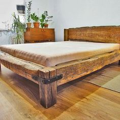 Reclaimed Wonders is your source for year old reclaimed barn beams, lumber, Reclaimed Mantels, Rustic furniture and more. Our Reclaimed Hand Hewn Barn Beams are one of a kind historic pieces of lumber made from lumber dating back to the early Pallet Furniture, Furniture Plans, Rustic Furniture, Bedroom Furniture, Furniture Design, Bedroom Decor, Furniture Making, Bed Frame Design, Bed Design