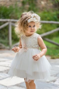 71c2413b077 Picture of S MAYA βαπτιστικό φόρεμα κορίτσι Τούλι, Τουαλέτες, Κεντήματα