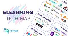 Карта сервисов eTutorium для онлайн-обучения: LMS, конструкторы курсов, платформы вебинаров, онлайн-опросов