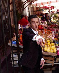 Cameron Dallas in Dolce & Gabbana shoot